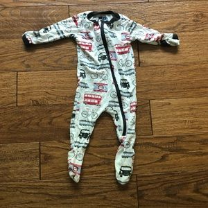 Kickee pants British inspired footed onesie 0-3 m